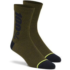 100% Rythym Socks fatigue heather